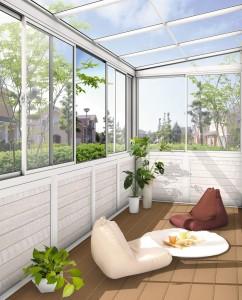お庭の有効活用 サンルーム ガーデンルーム