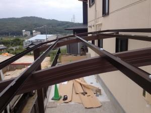 片屋根のカーポート