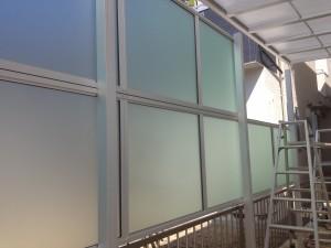 すりガラス調のフェンス
