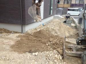 瀬戸市で外構工事着工
