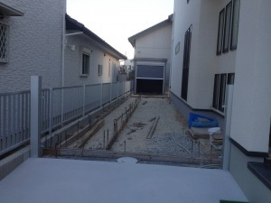 駐車場のコンクリート