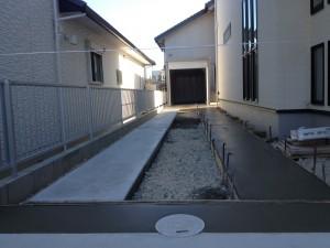 外構工事のコンクリート工事