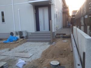 外構工事のフェンス取付