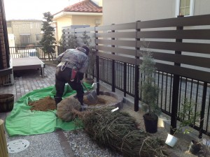 植栽工事の準備