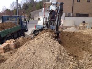 外構工事の土の搬出