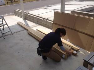 土岐市でテラス屋根の工事