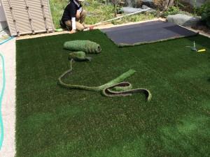 人工芝の施工