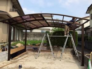 カーポートの屋根張り