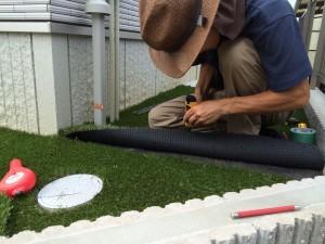 人工芝の敷設