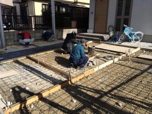 コンクリート舗装の準備