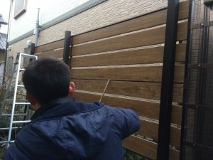 多段フェンス工事