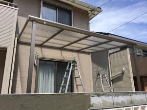 テラス屋根の工事