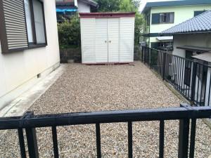 砂利敷作業