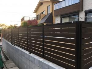 フェンスの取付