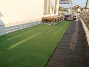 人工芝敷設